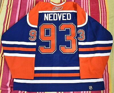 Petr Nedved GAME USED WORN JERSEY Edmonton Oilers LOA MeiGray