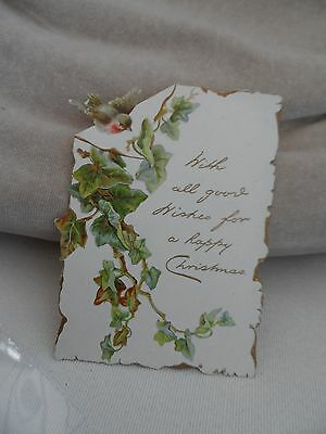 victorian christmas card with robin bird by raphael tuck &sons