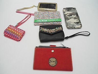 Awesome lot of 6 new wristlets and wallets all styles and colors NEW