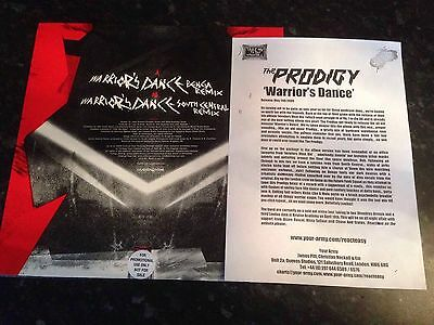"THE PRODIGY - Warriors Dance 12"" Single Promo and press sheet"