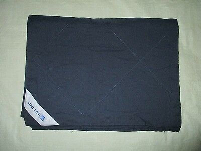 UNITED AIRLINES first class DUVET blanket NAVY blue travel stadium couch throw