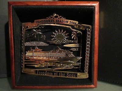 3D ROYAL CARIBBEAN FREEDOM of SEAS INAUGURAL SEASON 24K gold CHRISTMAS ORNAMENT