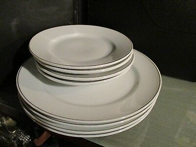 8 pc AMERICAN AIRLINES first class dinner dish plate entree side tray glass lot