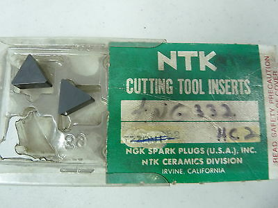 New NTK carbide inserts TNG332HC2 (Lot of 2)