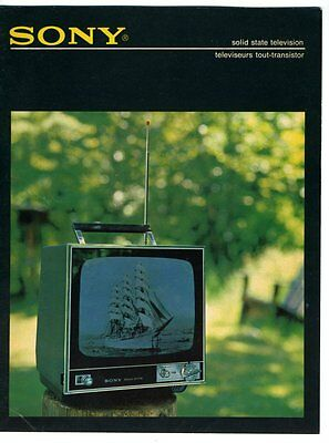 SONY SOLID STATE TELEVISION Sales Brochure 1970s Canadian Edition French English