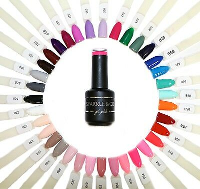 Sparkle & Co. UV/LED Soak-Off Gel Nail Polish 15ml Choose From: 72 Colors