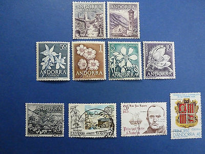 Lot 5178 Timbres Stamp Divers Andorre Cote Espagne Annee 1963-87