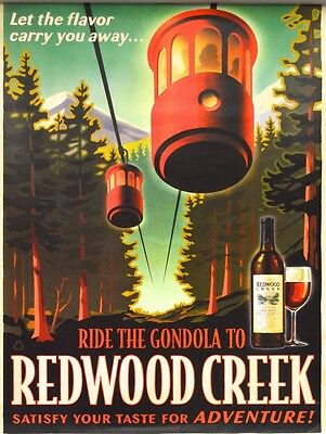 Set of 3 different Redwood Creek Wine Vintage Look Posters 2008 NEW Frei Bros.