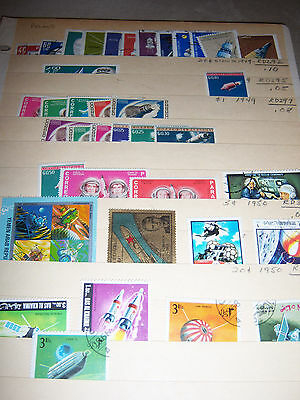 Lot C, Vintage USSR, Ghana, Yemen Middle East, China, Space Stamps, Mini sheets
