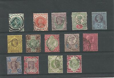 Great Britain 1887 Queen Victoria Jubilee set used to 1/- X 2