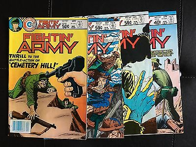 Fightin' Army (Charlton, 1980) Lot of 4 Issues #145, #147, #149, #151