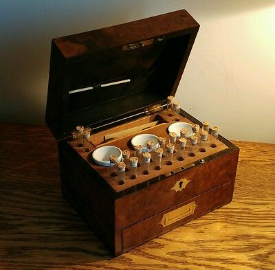 ABSOLUTELY STUNNING LATE VICTORIAN HOMEOPATHY/APOTHECARY CHEST & CONTENTS c1895
