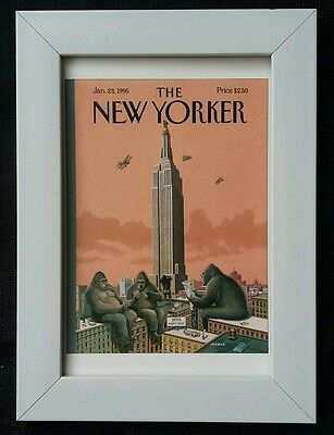 New Yorker magazine framed postcard print 6x4 NEW King Kong Empire State