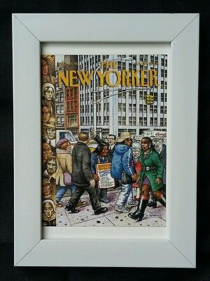 New Yorker magazine framed postcard print 6x4 NEW 'Thanksgiving Special'