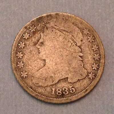 1835 US Bust Dime Ten 10 Cents