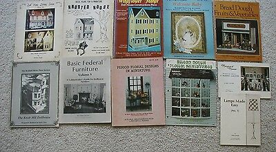 11  Dollhouse & Doll House Miniatures Plans and Designs Booklets Furniture Lamps