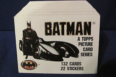 1989 Batman The Movie Series 1 Base Set, 132 cards &  Wrapper TOPPS   DC COMICS