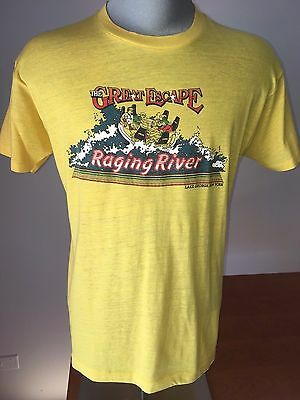 Vintage 80s GREAT ESCAPE T-Shirt RAGING RIVER Paper Thin VTG Lake George NY USA