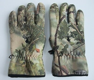 Kings Mountain Camo Wind Defender Fleece Gloves KHT2116 Size Mens XL