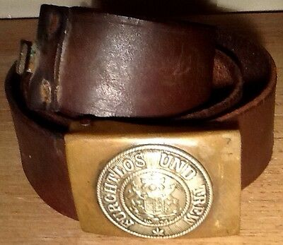 Imperial German, Kingdom of Wurttemberg, WW 1 Enlisted Man's Belt & Brass Buckle