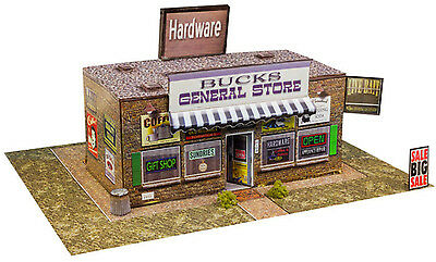 "BK 4318 1:43 Scale ""General Store"" Photo Real Scale Building Kit Model Trains"