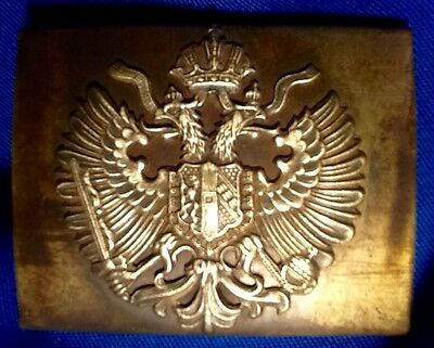 Imperial Austria-Hungary, Rare Mint, Pre-WW 1 Brass Army Belt Buckle, K und K