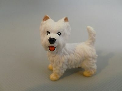 Retired Schleich Dog White Highland Terrier 1995  Happy Face With Tongue