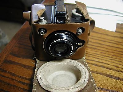 Very Clean Kodak SIX-20 Flash Brownie Camera with Leather Case