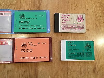 West Ham United Season Ticket Books X4