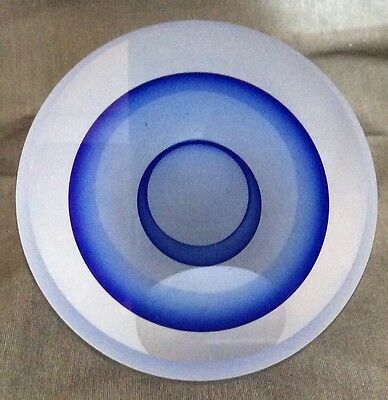 ED KACHURIK Optical Glass PAPERWEIGHT SIGNED & DATED 2004 Beautiful