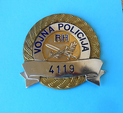 CROATIAN MILITARY POLICE official badge from the time of Croatian War 1990's RR
