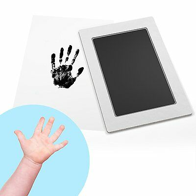 Baby Safe Ink Pad: Clean-Touch Baby Footprint & Handprint Kit, 2 Uses, Mess-Free