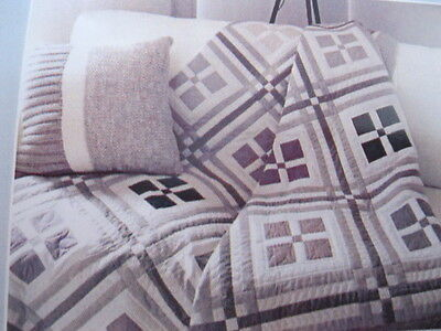 PATCHWORK QUILT KIT. ' TRUE NEUTRAL'   by  LYNETTE  ANDERSON   74in x  88in