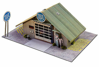 "BK 4310 1:43 Scale ""Commercial Steel Garage"" Photo Real Scale Building Kit"