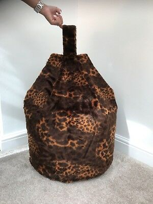 Cover only Bean Bag Faux Fur 3 Cubic Ft Size Animal Print Children Baby Giraffe