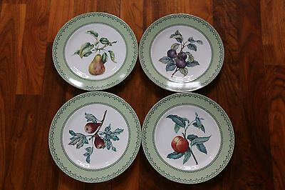 Andrea by Sadek Winterthur Adaptation Pear Fruit Dinner Plate ~ Set of 4
