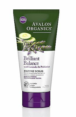 Avalon Organics Brilliant Balance Enzyme Scrub with Lavender & Prebiotics -Vegan