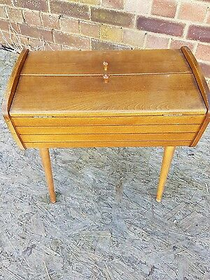 CUTE LITTLE 1960's Sewing Box with contents