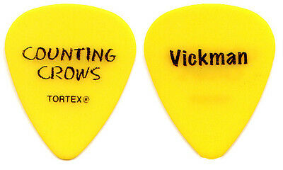 COUNTING CROWS Guitar Pick : 2013 Tour Vickman yellow