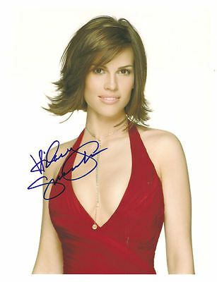 Hilary Swank Signed 8X10 Photo Coa From N.a. # 325513