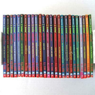 Goosebumps 2000 By R L Stine Complete Set of 25 Books Includes Iron On Transfer