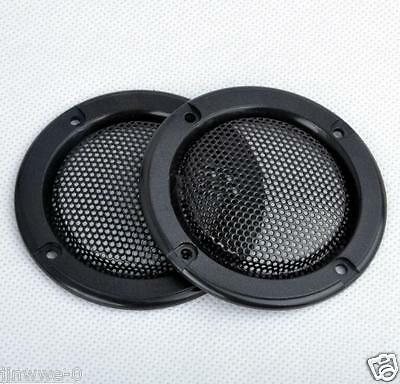 "2pcs 2"" inch 1# Tweeter Audio Speaker Cover Decorative Circle Metal Mesh Grille"