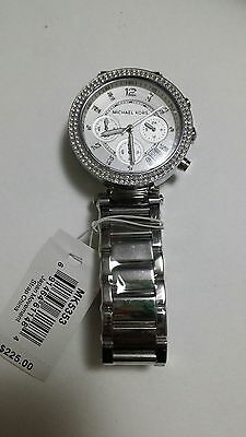Michael Kors Parker Silver Dial Stainless Steel Ladies Watch  MK5353