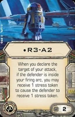 Star Wars X-wing Miniatures R3-A2 Astromech upgrade card from Rebel Transport