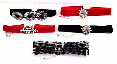 Fashion Theater Dance Costume Choker Necklaces - Red - Black - Your Choice 5 Des