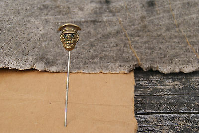 Antique Captains Hat Eyes Victorian Art Deco Hatpin Old Estate Find Hat Pin