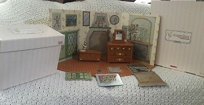 Angelina Ballerina Lot American Girl Story Book Cottage Dresser Toy Chest Wooden