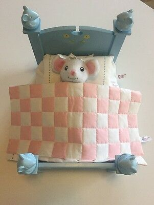 """American Girl Angelina Ballerina Furniture- Bed, Pillow, Bedspread, And 9"""" Plush"""