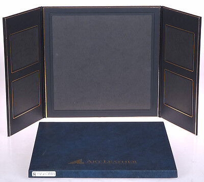 Art Leather BLACK Flip Photo Display for ONE (1) 11x11 + Four (4) 4x5 - NEW