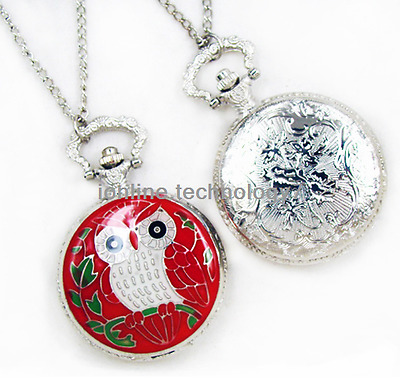 Antique owl brass pocket watch necklace pendant quartz for Quirky retro gifts